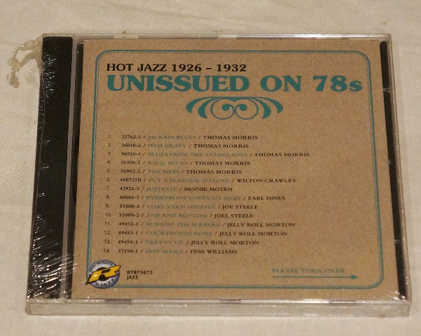 HOT JAZZ 1927-1932 UNISSUED ON 78S CD GREAT MOMENTS IN JAZZ