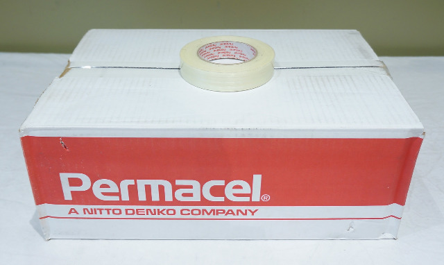LOT OF 36* ROLLS NITTO PERMACEL GLASS REINFORCED STRAPPING TAPE 18915 P-167