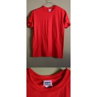 LOT OF 5 GILDAN SMALL RED MEN'S 50/50 DRYBLEND T-SHIRTS NEW!