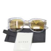 GUCCI GG0181S OPULENT LUXURY SQUARE SUNGLASSES GREY