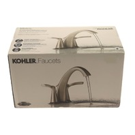 KOHLER R37024-4D1-BN 2-HANDLE BRUSH NICKEL LAVATORY FAUCET WITH POPUP