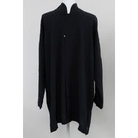 ESKANDAR S15/E014 LONG CHINESE COLLAR SHIRT BLACK S 1