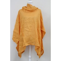 ESKANDAR S15/LLGZ1 ORANGE LINEN MONK BOXY TOP S 1