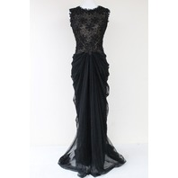 TADASHI SHOJI AMY1829L BEADED LACE TULLE GOWN SIZE 6