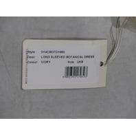 TEMPERLEY LONDON D14CBOTD1660 IVORY LONG SLEVE BOTANICAL DRESS SIZE 4 UK 8