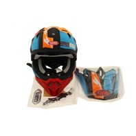 SHOEI VFX-EVO 146111005 OFFROAD HELMET ZINGER MATTE ORANGE/BLUE/BLACK