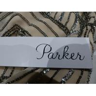 PARKER 5632386 XS NUDE SANSA EMBELLISHED DRESS
