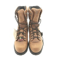 "GEORGIA BOOT GB00123 MENS 8"" CRAZY HORSE LOGGERS COMPOSITE WATERPROOF BOOTS 12"