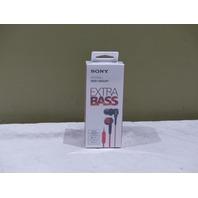 SONY MDR XB50AP/R IN-EAR HEADPHONES W/MIC RED MDRXB50AP/R EXTRA BASS