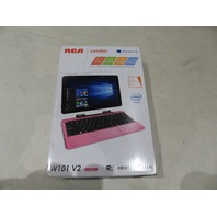 "RCA CAMBIO W101V2 PK 10.1"" WI-FI 32GB PINK 2-IN-1 TABLET W/ DETACHABLE KEY"