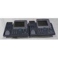 LOT OF 2 CISCO 7970 IP PHONE NO HANDSETS
