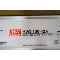 MEAN WELL POWER SUPPLY HVG-100-42A 42V 2.28A 95.76W