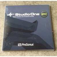 STUDIO ONE ARTIST MUSIC CREATION PRODUCTION SYSTEM SOFTWARE BRAND NEW SEALED
