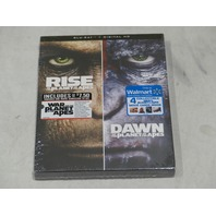 RISE OF THE PLANET OF THE APES/DAWN OF THE PLANET OF THE APES BLU-RAYDIGITAL HD
