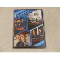 4 FILMS FAVES BUDDIES BADGES COLLECTION DVD RUSH HOUR TANGO COPOUT LETHAL WEAPON