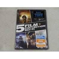 5 FILM COLLECTION SCI-FI DVD NEW / SEALED I AM LEGEND, JUPITER ASCENDING & MORE