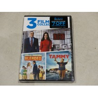 3 FILM COLLECTION THE INTERN, BLENDED, TAMMY DVD NEW / SEALED