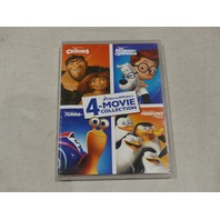 CROODS/MR  PEABODY & SHERMAN/TURBO/PENGUINS OF MADAGASCAR 4 MOVIE COLLECTION