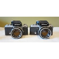 2 * NIKON NIKKOR F2 INTERCHANGEABLE 35MM FILM SLR CAMERAS 2* NIKKOR-S 50MM 1.4