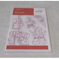 OESD EMBROIDERY SOFTWARE DESIGNS, WINTER REDWORK 12542 12542CD