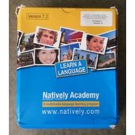 NATIVELY ACADEMY LEARN ENGLISH 1/2/3 VOCAB BUSINESS +TALK KIT W/ HEADPHONES