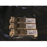 3* CISCO GLC-FE-100FX 10-2077-02 CLASS 1 LED 001 V02 TRANSCEIVER MODULE