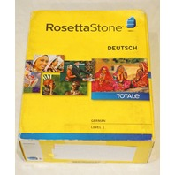 ROSETTA STONE TOTALE DEUTSCH GERMAN LEVEL 1 VERSION 4