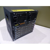 CISCO WS-C4506-E CATALYST 4500 6-SLOT CHASSIS PWR-C45-4200ACV WS-X4648 / AS IS
