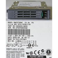 FUJITSU MAP3735NC 73.5GB U320 SCSI HARD DRIVE W/ TRAY