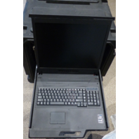 "ACMEMICRO SKB 8U PORTABLE RACK CONSOLE KEYBOARD 19"" LCD MONITOR KVM-AC-RKP1190E"