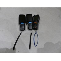 3* MIXED DATASCAN HANDHELD SCANNERS W/ BATTERIES 1* CR8000 2* QPID1000
