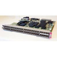CISCO WS-X6748-GE-SFP 48 PORT GIGABIT NETWORK MODULE W/ WS-F6700-DFC3C PLUG-IN