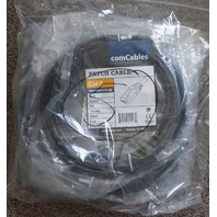 COMCABLES PACKAGE OF 5 * CAT6 GIGABIT 14FT BLACK PATCH / ETHERNET CABLES NEW