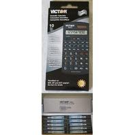 LOT OF 10 VICTOR 930-2 SCIENTIFIC CALCULATORS 10 DIGIT LCD  BRAND NEW