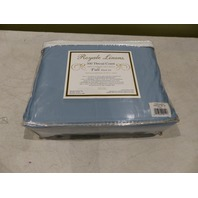 ROYAL LINENS FULL SHEET FULL BLUE ASHLEY BLUE T300 SATEEN