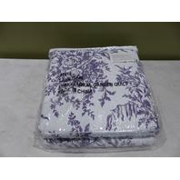 LEAFY FLORAL GARDEN QUILT N/A PURPLE/WHITE 42415