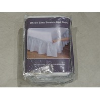 STRETCH BED SKIRT FULL/QUEEN WHITE P105116 37467