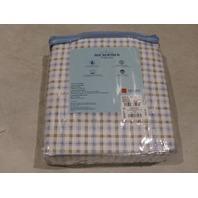 HOME CLASSICS MICROFIBER SHEET SET QUEEN PLAID BLUE/WHITE 73277