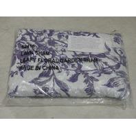 LEAFY FLORAL GARDEN SHAM STANDARD PURPLE/WHITE 42416