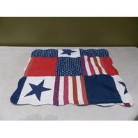 AMERICAN FLAG SHAM STANDARD RED/WHITE/BLUE 87077