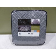 VC NEW YORK 3 PIECE QUILT SET KING GREY 102223 NINA