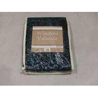 WINDOW VALENCE KISMET SHAM QUEEN GREEN/BLACK KSMVAL MIDNIGHT 6614923