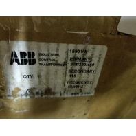 ABB INDUSTRIAL CONTROL TRANSFORMER 1500VA X41.5K1