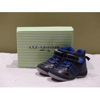 ADORABABY CB7012 41569509 BLACK/BLUE HI-TOP SNEAKER TODDLER 6