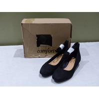 COMFORTVIEW PIXIE ANKLE STRAP PUMPS 1603042 BLACK 9M