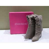 SHOEDAZZLE OLIVIA OVER KNEE THIGH HIGH CORSET BOOTS TAUPE 8 HS1723965-2720-84080