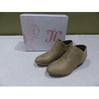 JC JOURNEY COLLECTION SUN TAUPE ANKLE BOOTS 9