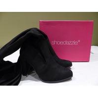SHOEDAZZLE SOLANA HEELED BOOTS BLACK WOMEN'S 7 HS1619411-0001-84070 NEW