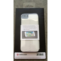 TWELVESOUTH SURFACEPAD IPHONE 5 ULTRA SLIM WHITE LEATHER CASE COVER 12-1229 NEW!
