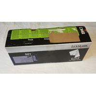 LEXMARK PRINT TONER CARTRIDGE 501 MS 310 410 510 610 SERIES RETURN PROGRAM